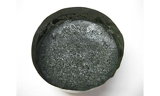 AOD slag sample treated with 15% Valoxy by weight.
